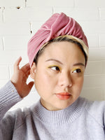 Miri in Blush Velvet Headwrap