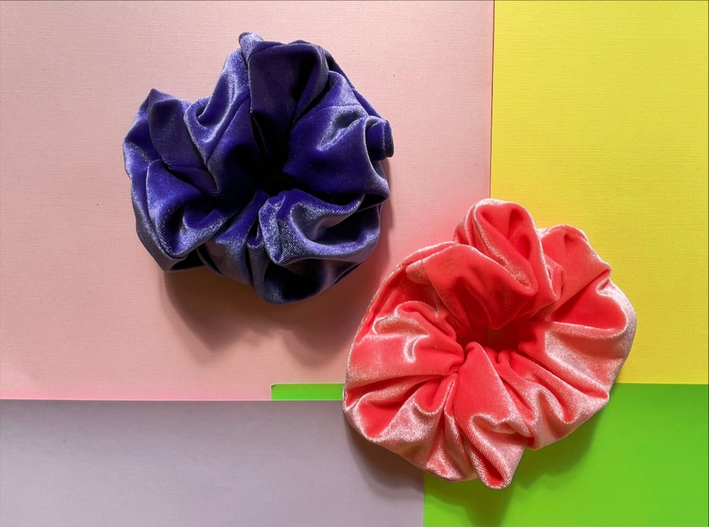 Spring  Candy Hello Darling Velvet Scrunchies