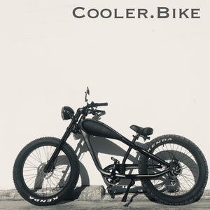 Cooler King 750ws BLACK EDITION eBike - 48v, Retro Style Electric Bike