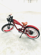 Load image into Gallery viewer, OCTOBER DELIVERY: Cooler King 750ws RED EDITION eBike - 48v, Retro Style Electric Bike