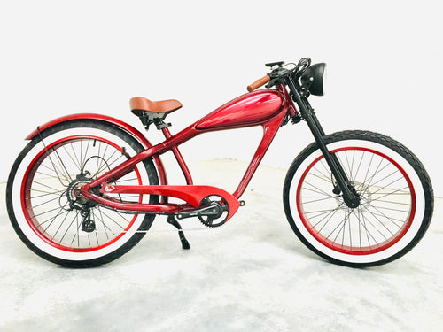FEB DELIVERY: Cooler King 750ws RED EDITION eBike - 48v, Retro Style Electric Bike