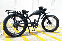 Load image into Gallery viewer, Cooler King 750st BLACK EDITION eBike - 48v, Retro Style Electric Bike