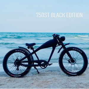 SEPTEMBER DELIVERY: Cooler King 750st BLACK EDITION eBike - 48v, Retro Style Electric Bike