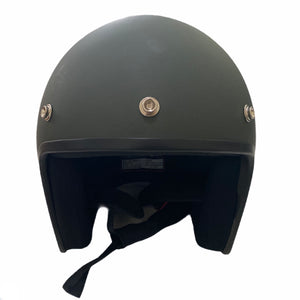 Cooler King Helmet - Lucky 8 Ball - Matt Slate Grey - Black Lined