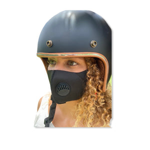 Black Washable Anti-Pollution Face Mask with Breathe Valve