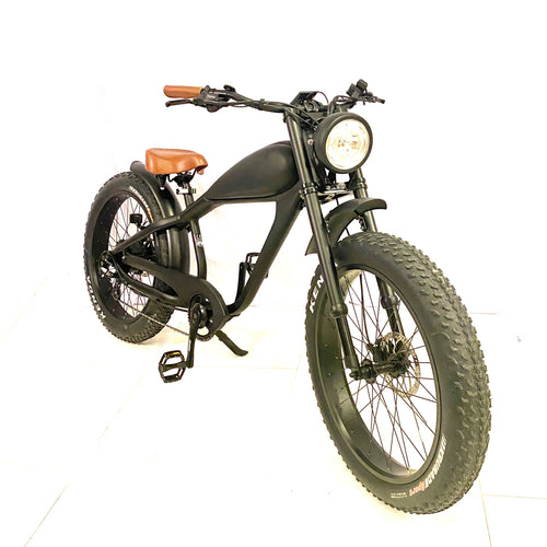 SEPTEMBER DELIVERY - Cooler King 750ws eBike - 48v, Retro Style Electric Bike - with front suspension