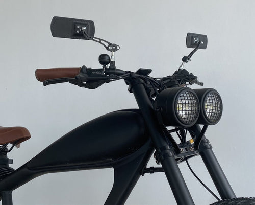 Hardcore Rearview Mirror - Left or Right Mounting For Cooler King Bikes