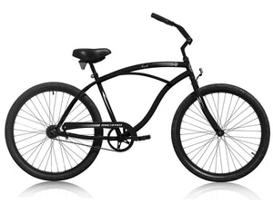 "Micargi Touch, Black - Men's 26"" Beach Cruiser Bike - APRIL DELIVERY"