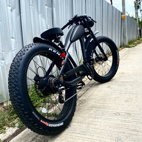 JUNE DELIVERY - Cooler King 750st BLACK EDITION eBike - 48v, Retro Style Electric Bike