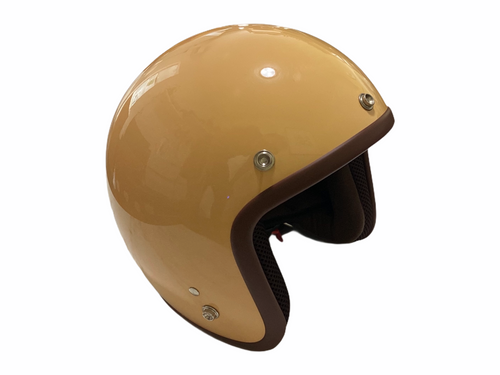Cooler King Helmet - Camel - Brown Lined