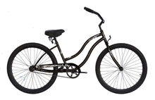 "Load image into Gallery viewer, Micargi Touch, Black - Unisex 26"" Beach Cruiser Bike - MARCH DELIVERY"