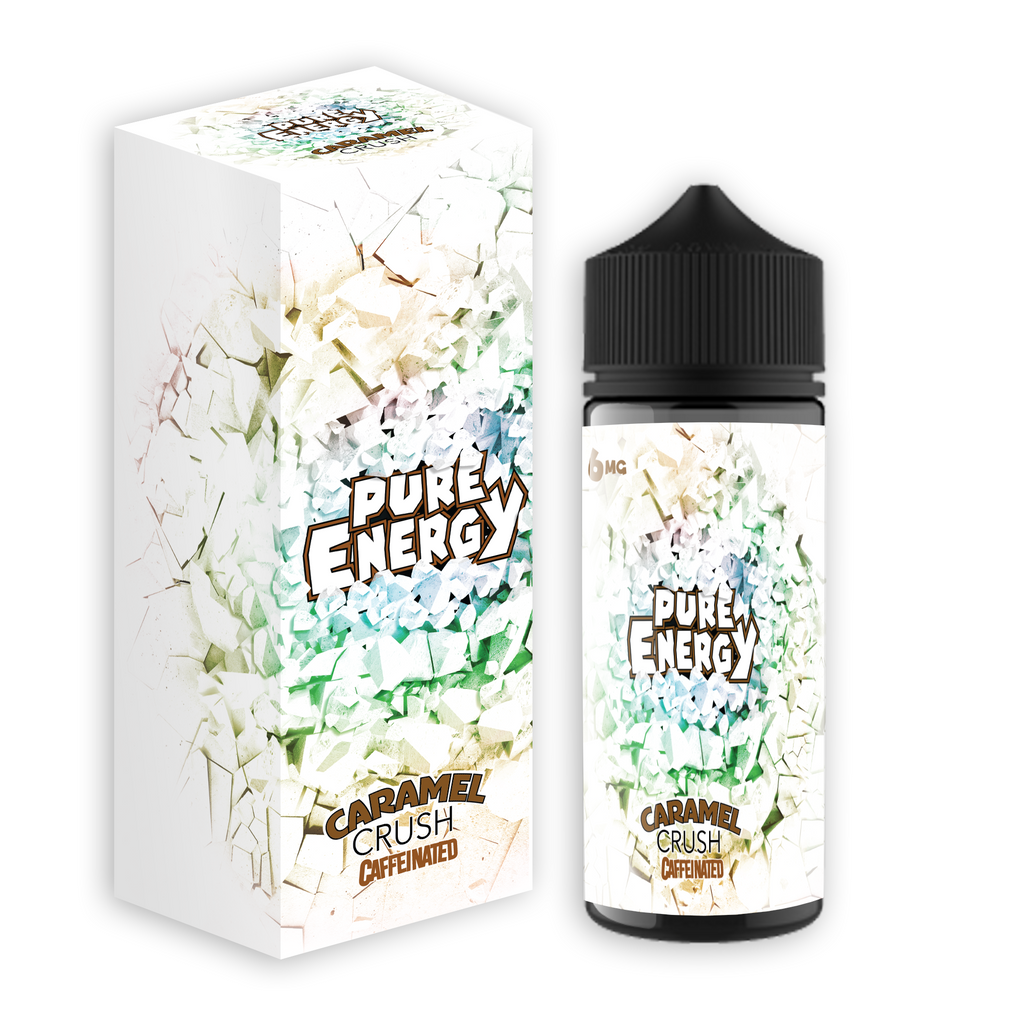Pure Energy -Caramel Crush Caffeinated Vape Juice - Wheel House Vapor