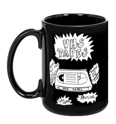 VHS Tapes Mug by Jacy Catlin