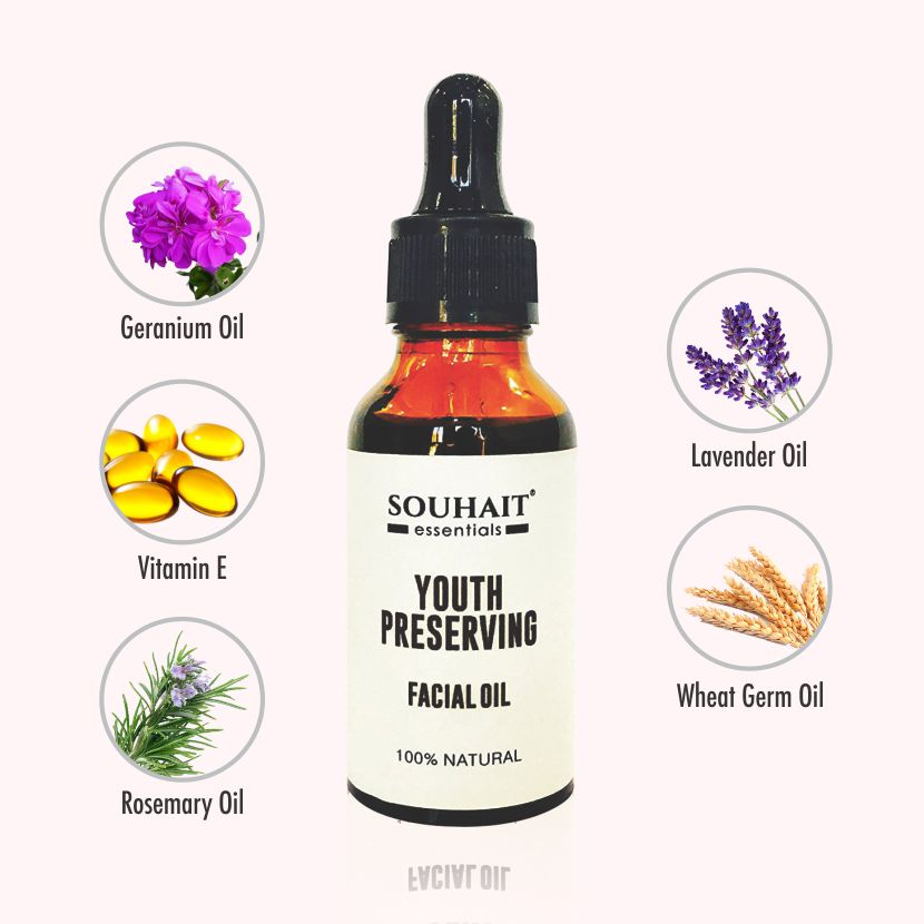 Youth Preserving Facial Oil - 100% Natural - 30ml