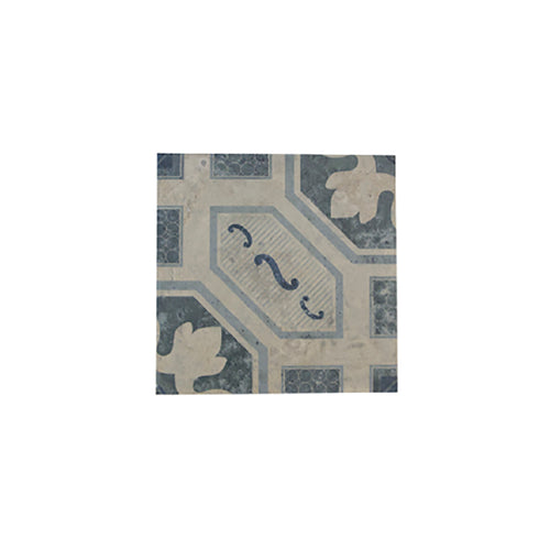 TILES - INDIVIDUAL PATTERNED - BLUE WHITE GREY