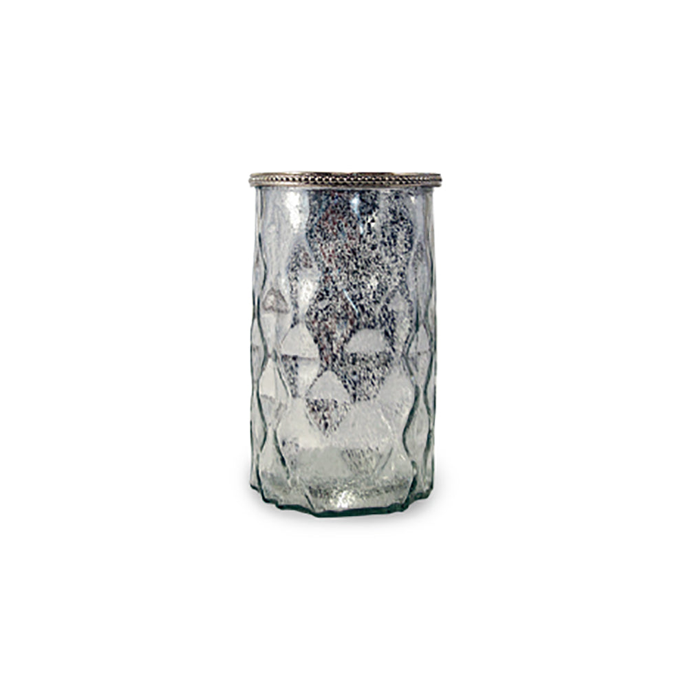 GLASS VASE - MERCURY PATTERNED