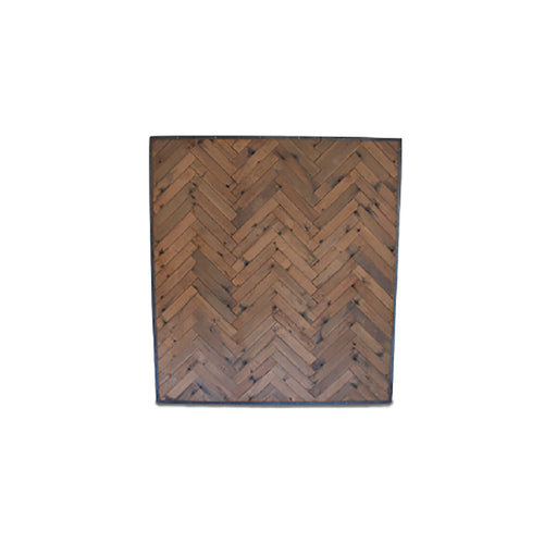 BACKDROP HERRINGBONE BROWN WOOD 2.2m x 2.2m
