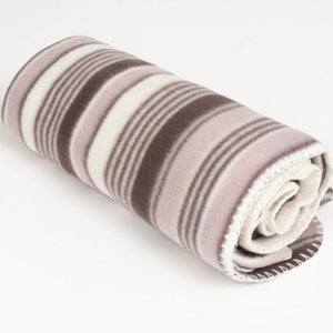 THROW - FLEECE - LILAC STRIPE