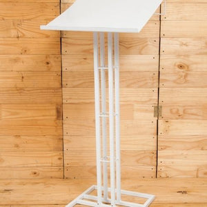 PODIUM METAL WHITE 115CM X 50CM