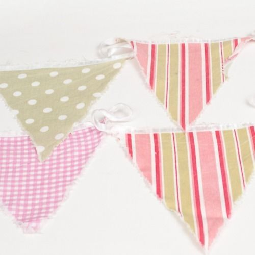 BUNTING - FLORAL, PINK AND GREEN 3M
