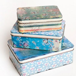 METAL TINS - PASTEL  (SET OF 3)