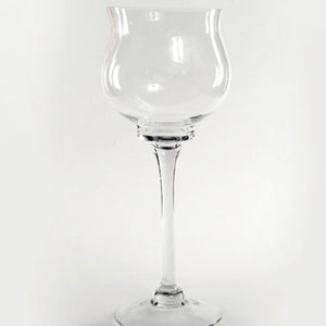 GLASS VASE - TALL STEM GOBLET 30CM X 11CM