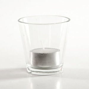 VOTIVE HOLDER - CLEAR CONE 6CM X 6CM