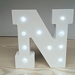 "MARQUEE LETTER LIGHT - ""N"" 1M TALL**"