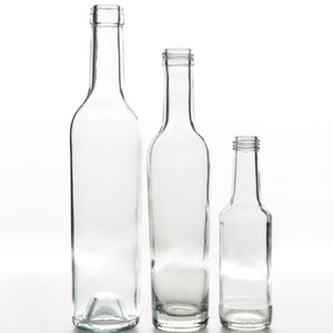 GLASS BOTTLE - ROUND ASSORTED - SMALL / MEDIUM / LARGE