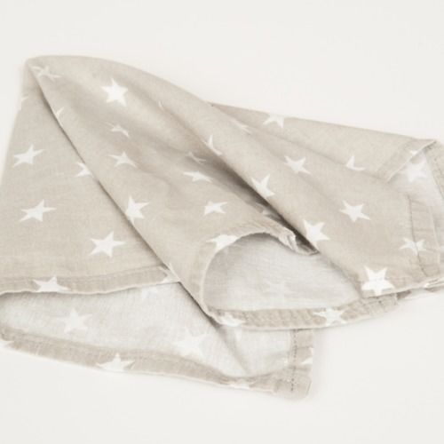 NAPKIN - GREY & WHITE STAR PRINT