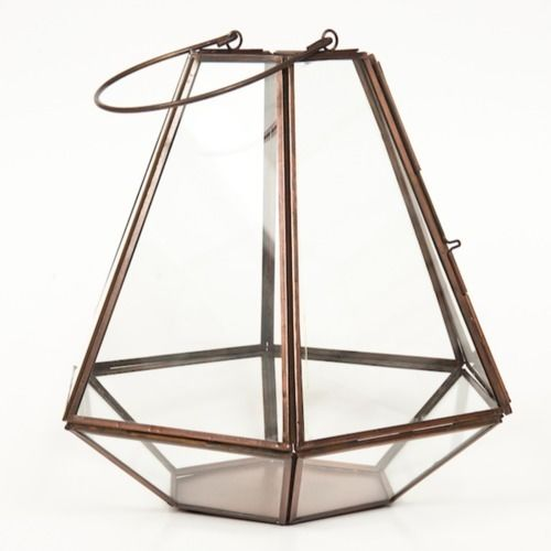 LANTERN - COPPER, DIAMOND SHAPE 27 X 27 X 27