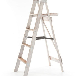LADDER - WOODEN WHITEWASH 1.5M