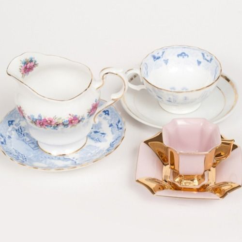 TEA CUPS & SAUCERS ASSORTED MIX MATCH (PRICE PER PIECE)