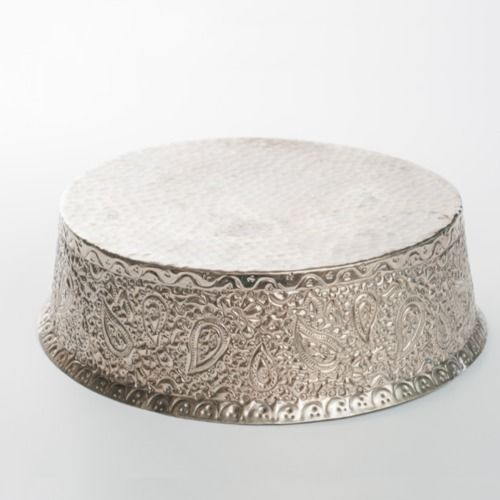 CAKE STAND - SILVER 25.5CM X 9CM