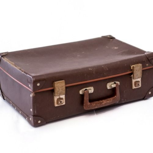 VINTAGE - SCHOOL CASE - BROWN 46CM X 30CM X 15CM