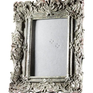 FRAME SMALL - ORNATE  - SILVER (PICTURE SIZE 9X14CM)