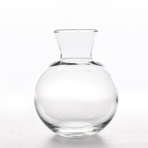 GLASS VASE - CARAFE ROUND 12CM X 10CM (400ML)