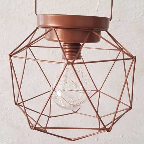 GEO SHAPE - LED LIGHTBULB - COPPER (EXCL BATTERIES - 3AA)
