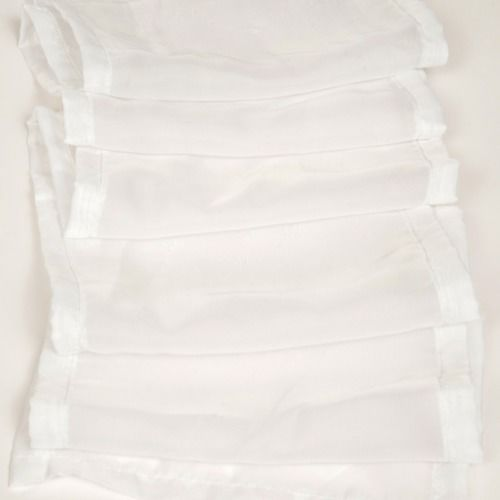 TIE BACK - SHEER WHITE 2M X 20CM