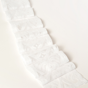 TIE BACK - WHITE LACE  2M X 12CM