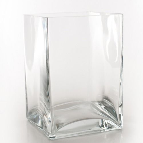 GLASS VASE - SQUARE 18CM