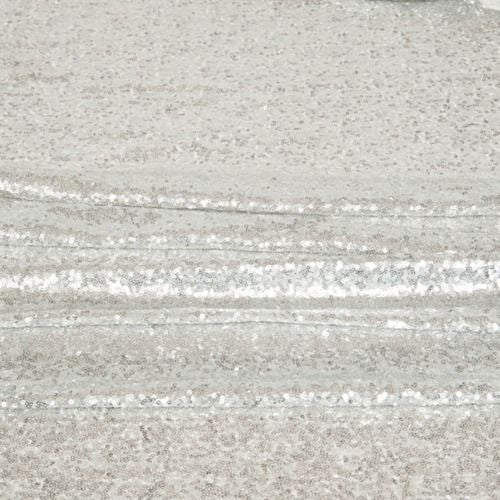 TABLE CLOTH - SEQUIN - SILVER 3M X 3M