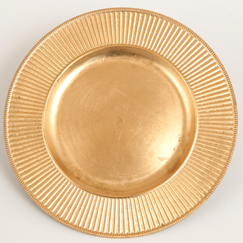 CHARGER PLATE - GOLD 32CM