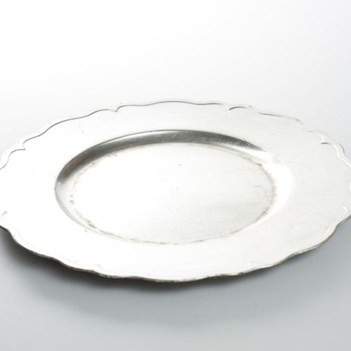 CHARGER PLATE - MATTE SILVER 33CM
