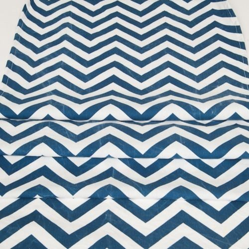 RUNNER - CHEVRON, NAVY & WHITE 3M X 50CM