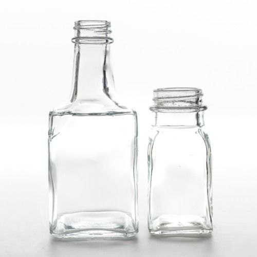 GLASS BOTTLE - SQUARE ASSORTED - SMALL / MEDIUM / LARGE