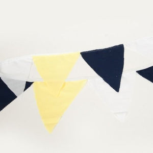 BUNTING - NAVY, YELLOW AND WHITE  +- 1.5 M