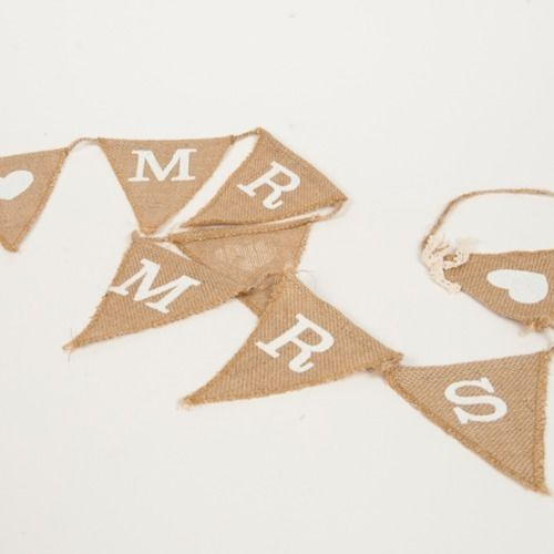BUNTING - MR & MRS HESSIAN SMALL 1M