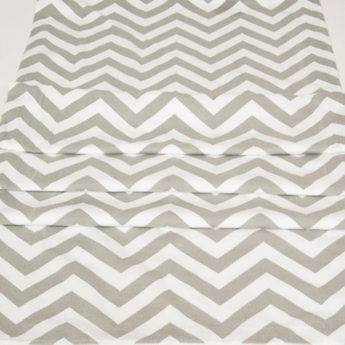 RUNNER - CHEVRON, GREY & WHITE 3M X 50CM