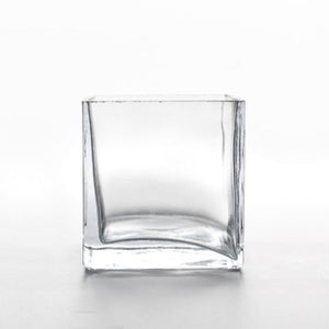 GLASS VASE - SQUARE  8CM